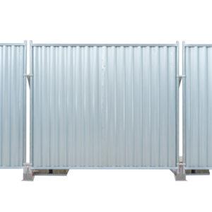 Afspærring med mobilhegn - galvaniseret blokade panel