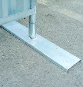 Mobilhegn og tilbehør til afspærring - enkelt metalfod