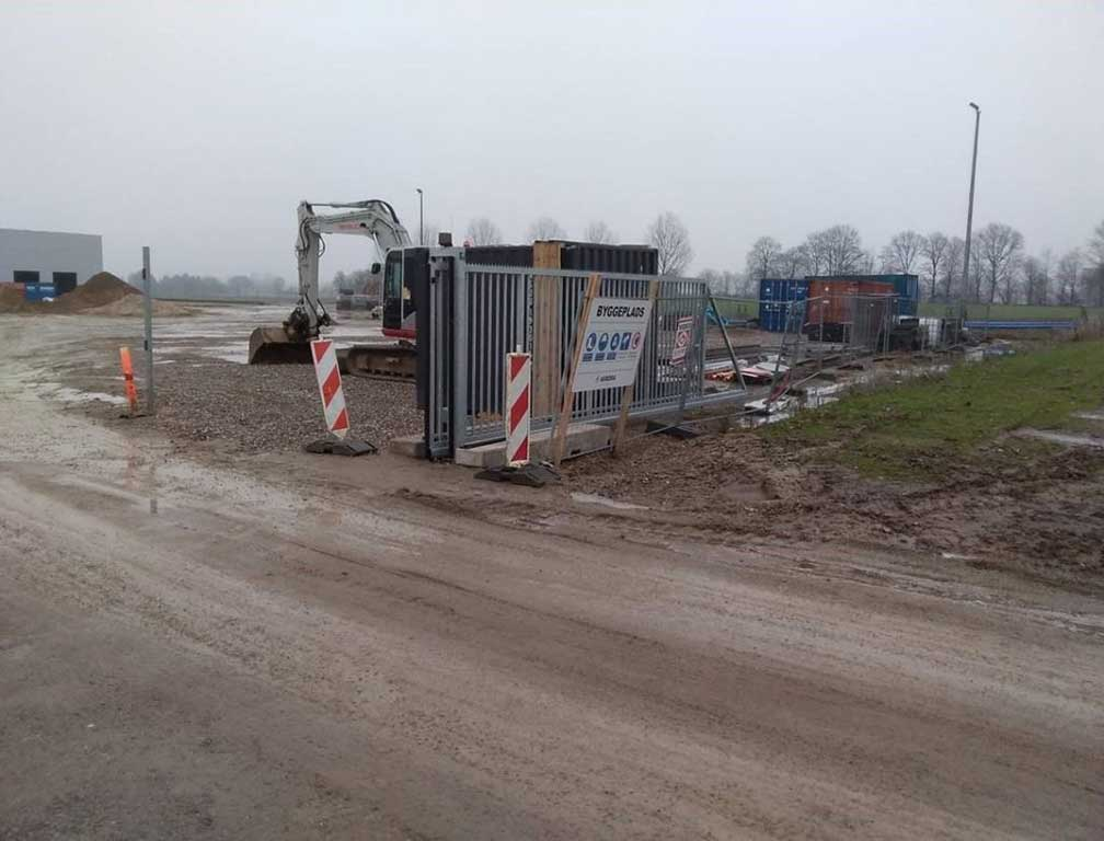 Skydeport til sikkerhedshegn og mobilhegn. Danmarks måske billigste priser